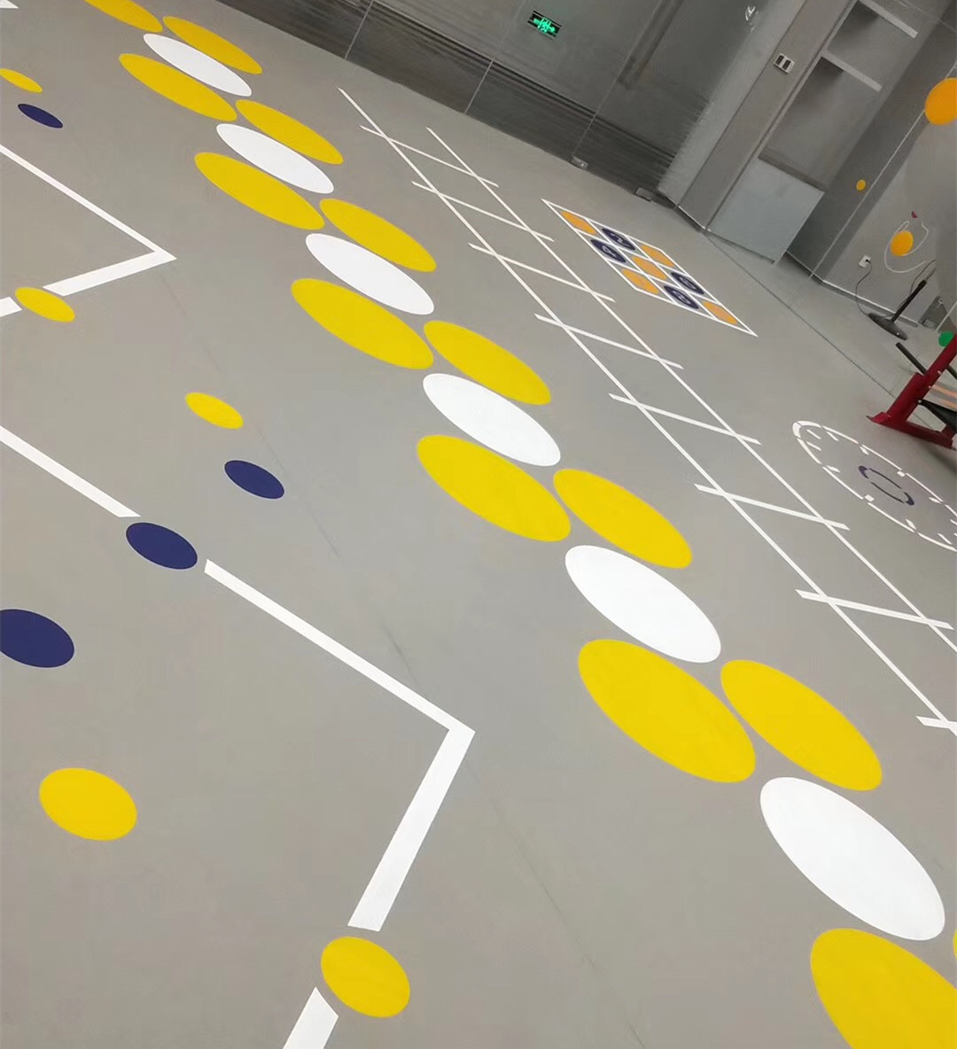 Synthetic PVC flooring for personal training room fitness