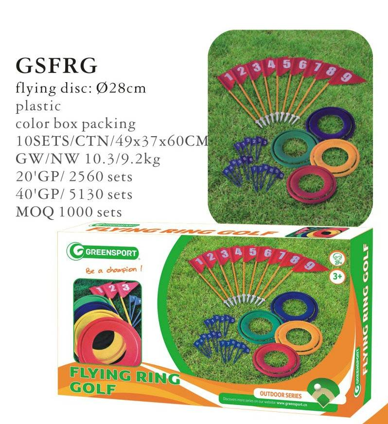 Flying ring golf