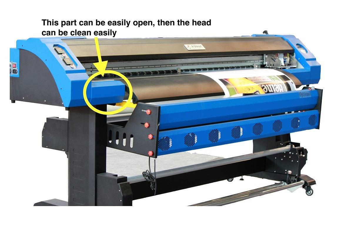 1.8M Eco Solvent Two Epson DX7 Heads Printer 1440Dpi for Printing on Advertising PVC Vinyl