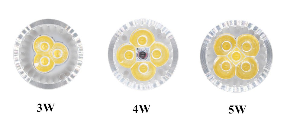 Bright 3W 4W 5W GU10 GU5.3 LED Bulbs Light 12V 220V GU10 Led Spotlights WarmCool White LED downlight