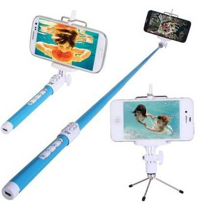 Best Selfie Monopod with Integrated Bluetooth Remote Release in Grip--For iOS & Android (Bluetooth M