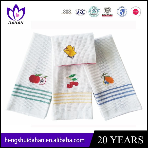 cotton embroidery tea towel