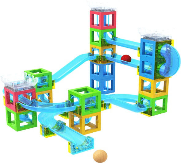 STEM Toy Magnetic Block with Running Ball