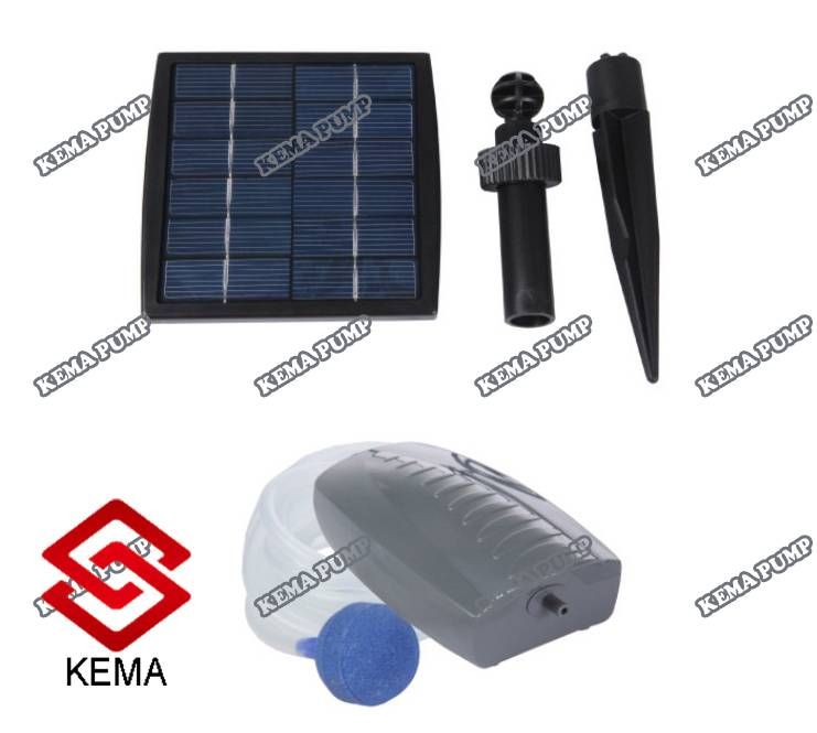 1.5W 2lpm >450mmhg Solar Air Pond Pump for Fish Pond or Aquarium