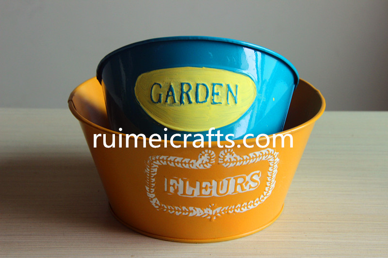Factory direct oval tin baskets,diversity tin pots for planting flowers, Home&Garden decoration.