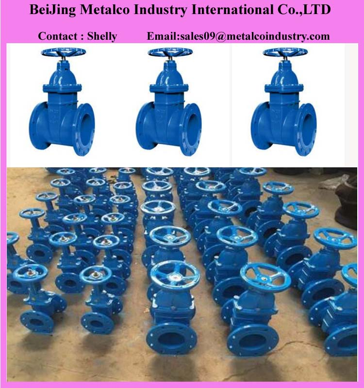 Non-rising ductile iron resilient seated gate valve