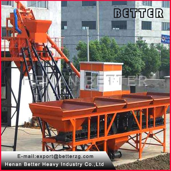 HZS25 stationary concrete batching plant for sale