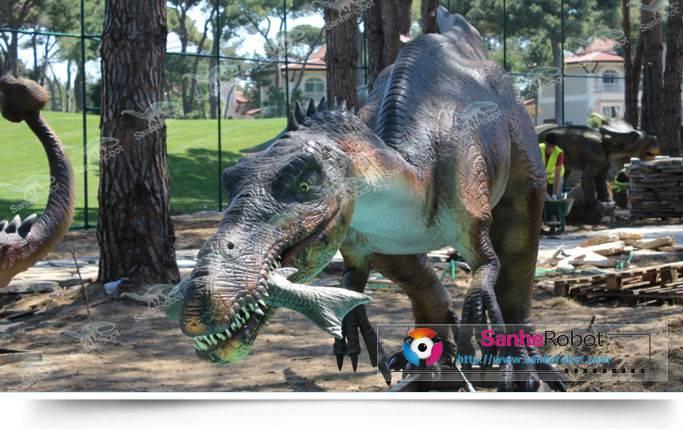 life size robotic animated dinosaur