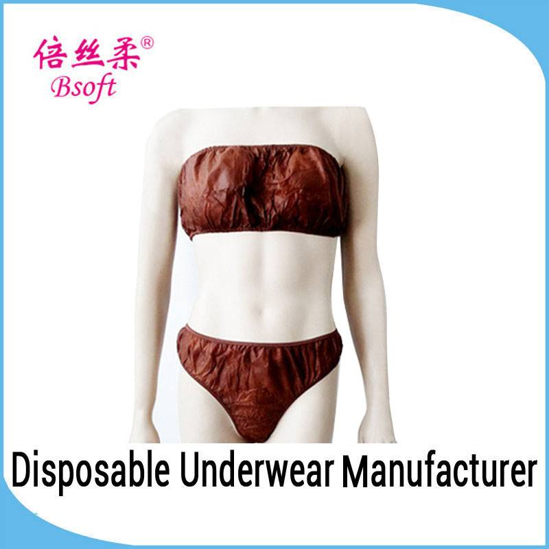 Factory Wholesale Disposable Panties Bra Set Ladies Underwear Sexy Bra And Panty New Design for refu