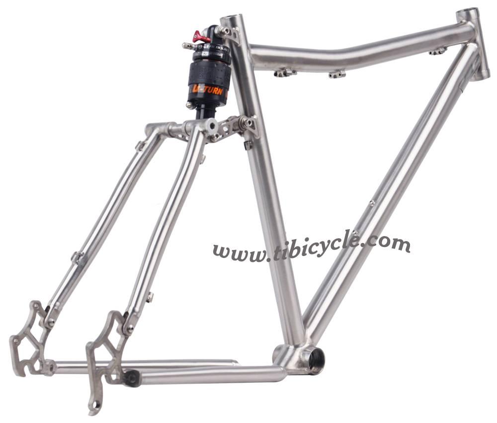Suspension Titanium Bike Frame HLS001