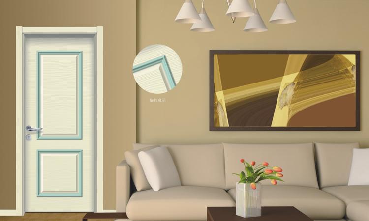 HONMAX pastoral style bright color design house bedroom door