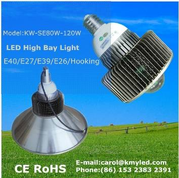 Hot sale !!!ce rohs industrial IP65 30w 40w50w 60w 80w 90w 100w 150wCREE Bridgelux100W led high bay