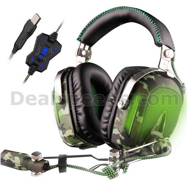 SADES A90 High Performance Computer Game Headphone With Volume Button