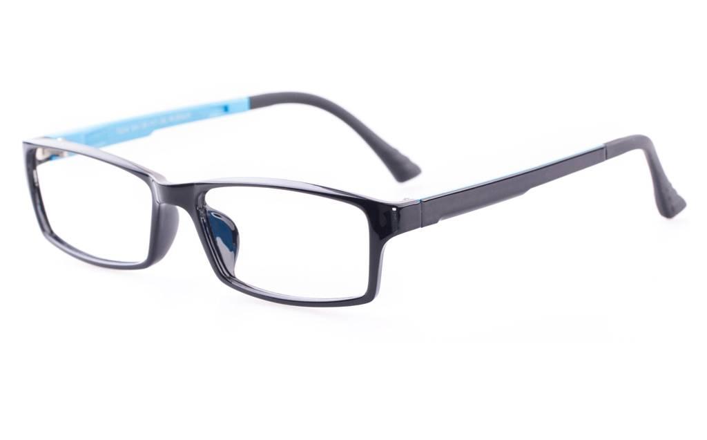 S.Black Blue 7004 SMOOTH Full Rim Square ULTEM Glasses