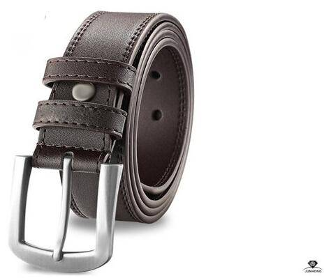 Men's leather needle buckle leather belts