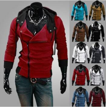 Hot sale 2014 Autumn and Winter New Fashion Slim Fit Causal Hoodies Men, Men's hoodie Jackets