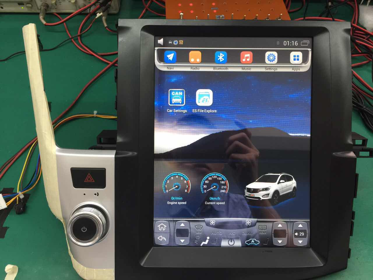 Android 2 din car dvd with vertical 12.1in for toyota Highlander
