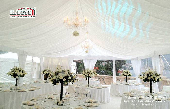 20x20 clear span tent luxury transparent tent / clear top tent with decoration