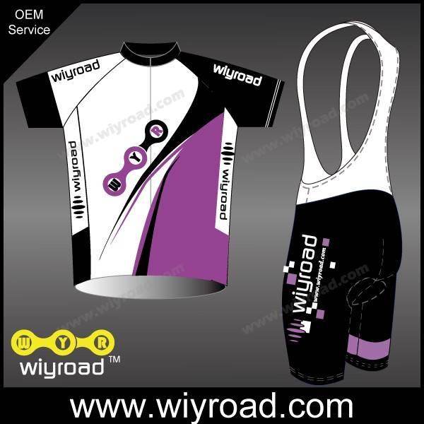 Accept sample order short sleeve bike wear/bicycle bib and jersey/team bike jersey design