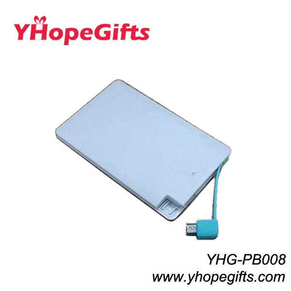 Card size power bank/charger