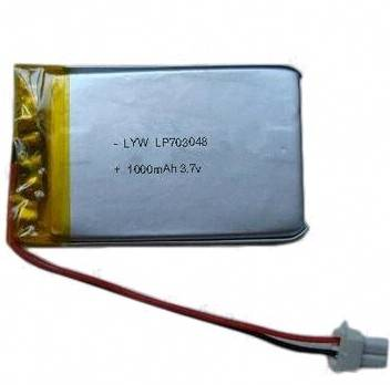 High Quality Rechargeable Lithium Polymer Battery for GPS with 3.7V Voltage, 1000mAh Capacity