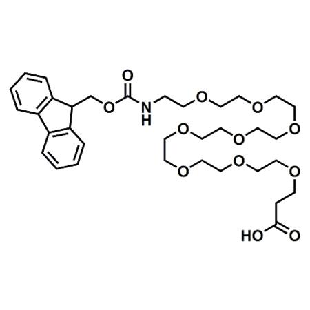 Fmoc-PEG8-propionic acid;Fmoc-NH-PEG8-CH2CH2COOH;CAS#756526-02-0