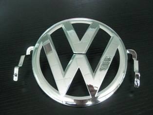 VW chromed Sign