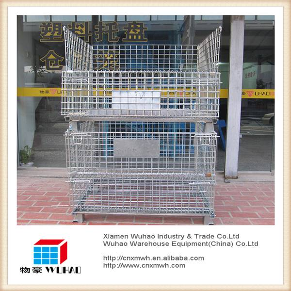 foldable collapsible small smart mesh container