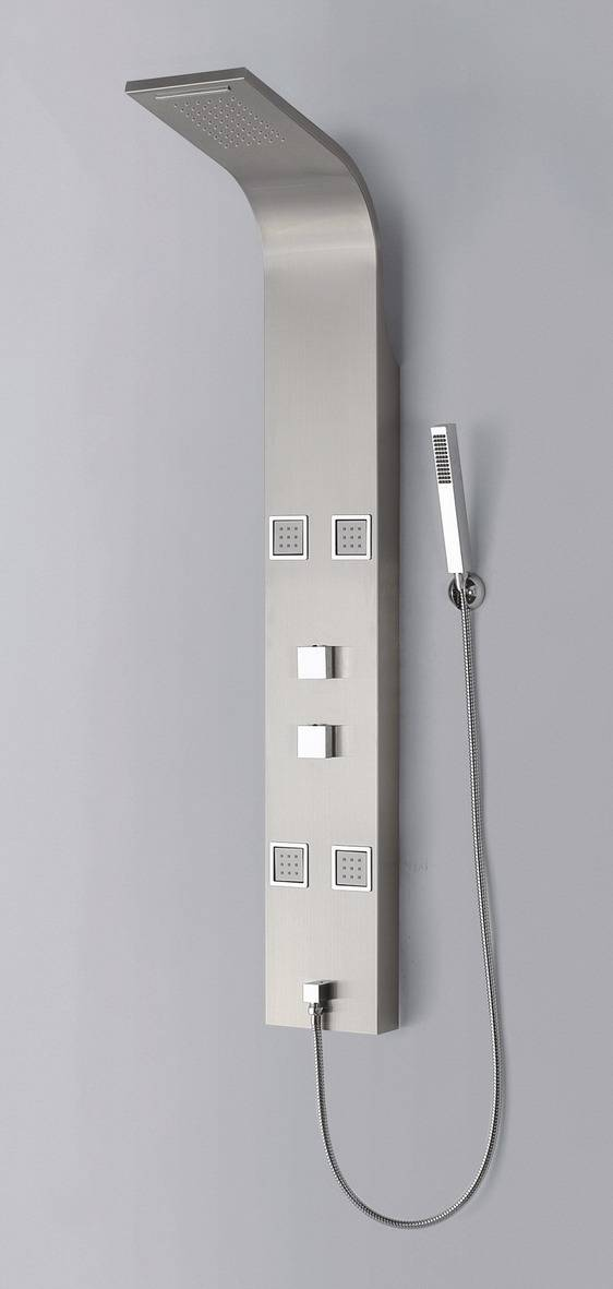 waterfall spout message square body jets shower panel
