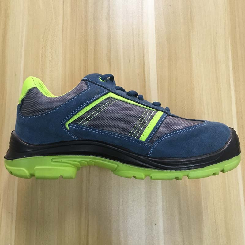 blue suede leather upper PU sole safety shoess