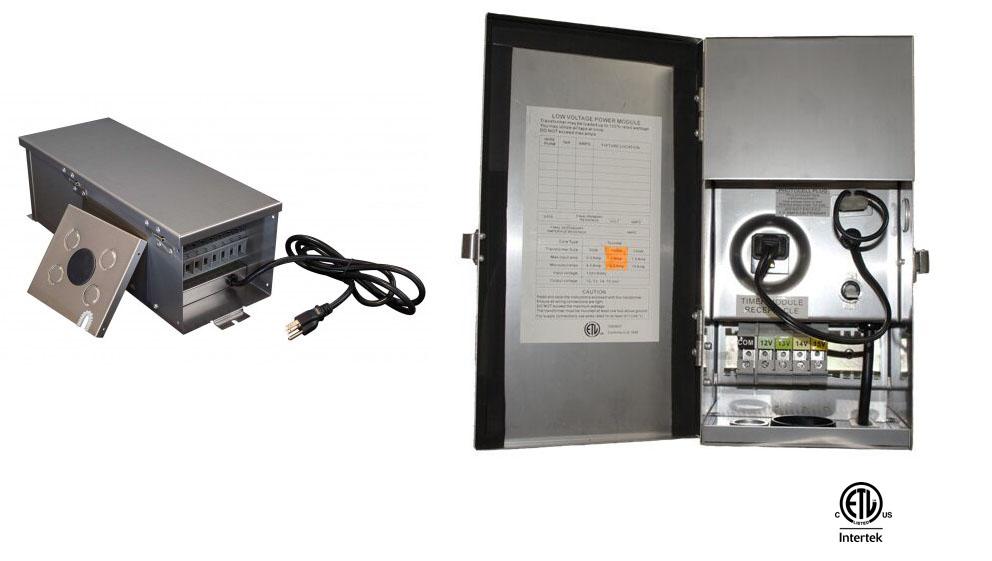 Low voltage landscape lighting power unit