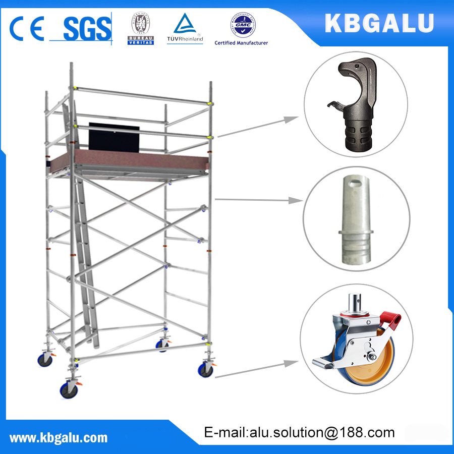 double width aluminum scaffold tower with 3.0m standing height