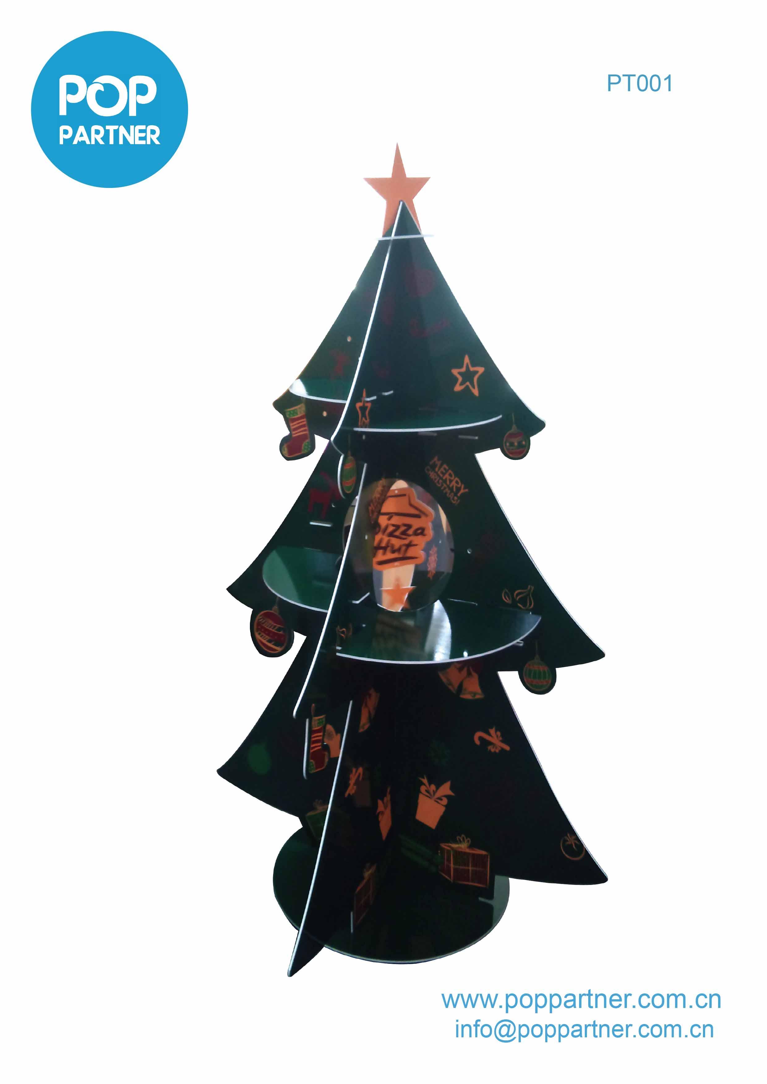 Christmas gift POP corrugated Floor Display Cardboard