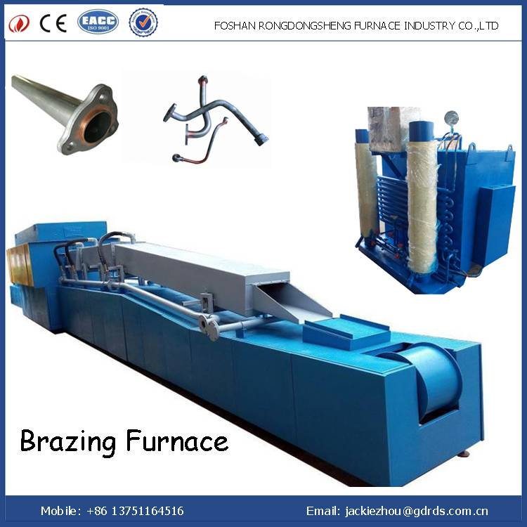 Copper and aluminum electric brazing furnace with cooling system