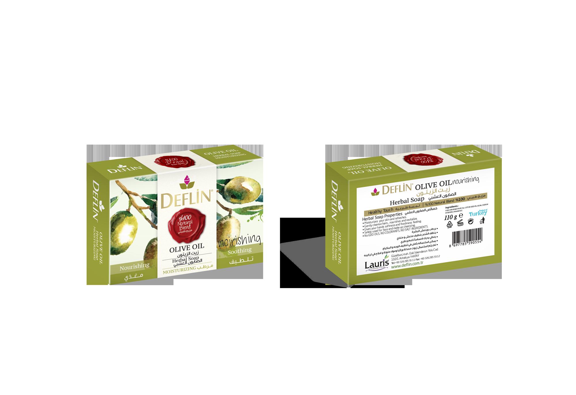 Deflin herbal solid soap OLIVE OIL