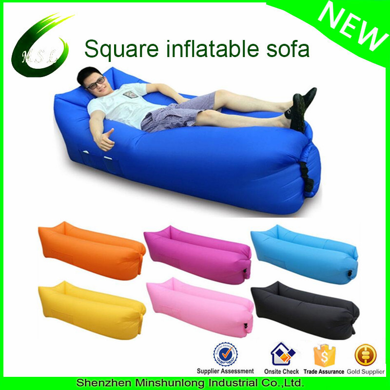 China factory Wholesale Outdoor Inflatable Sun air Lounger for Beach, Camping, Festival Relaxation a