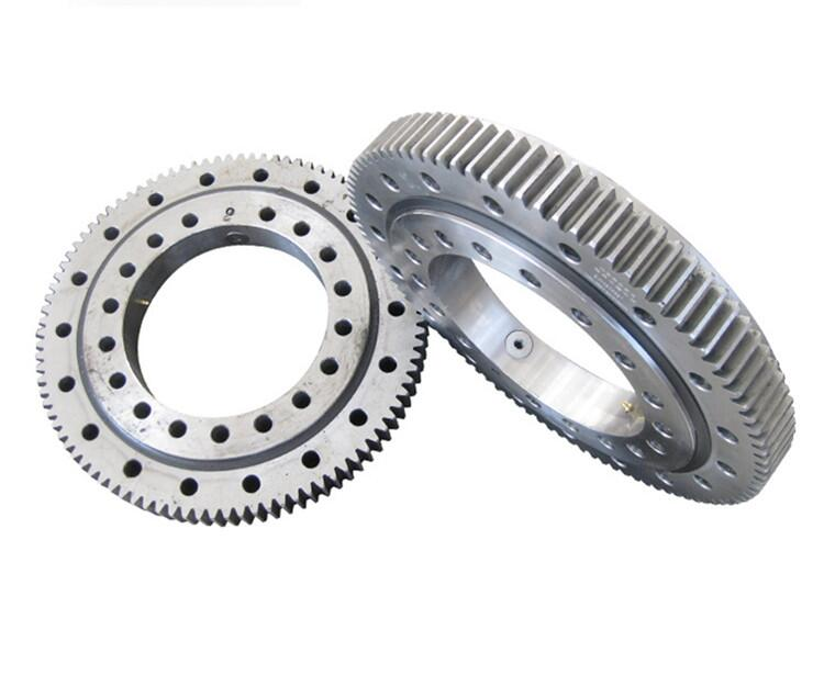 Four point contact ball type slewing bearing with external gear