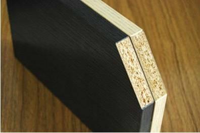 black melamine faced chipboard
