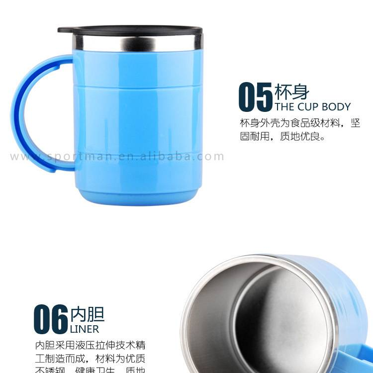 Inside Stainless Steel Travel Mug 350ml Car Home Camping Office Work NEW