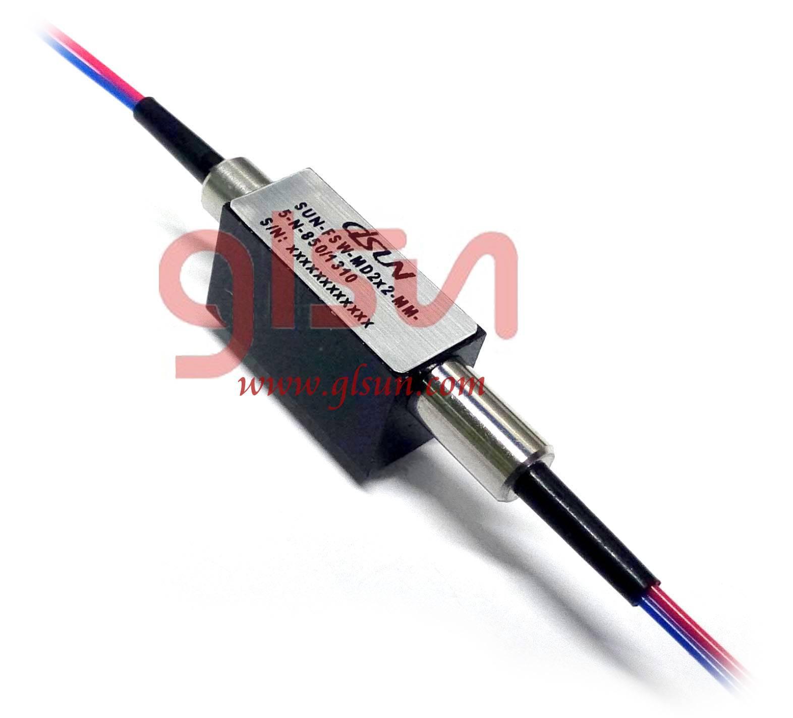 Mini Dual Opto Mechanical Fiber  Optical Switch
