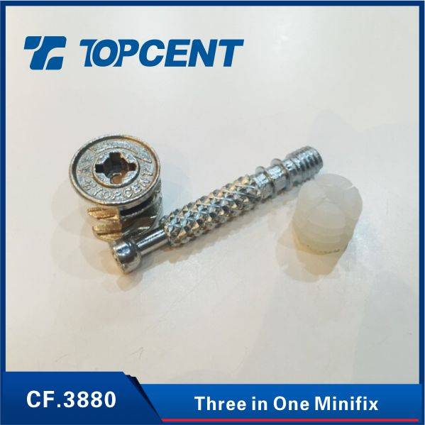 CAM and BOLT and NUT Three in One minifix furniture cam lock fasteners