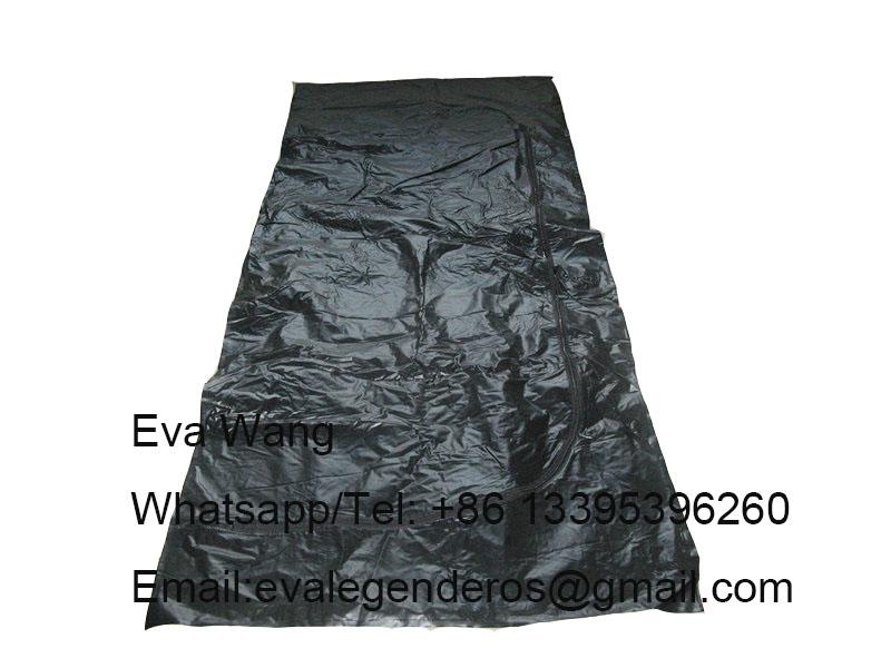 High quality Adult funeral PVC body bag with U zipper