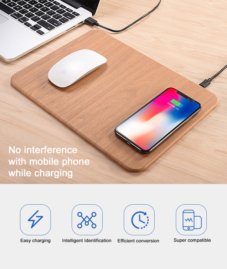 Popular Quick Charger Mouse Pad Charging QI Wireless Charger for Cell Phone