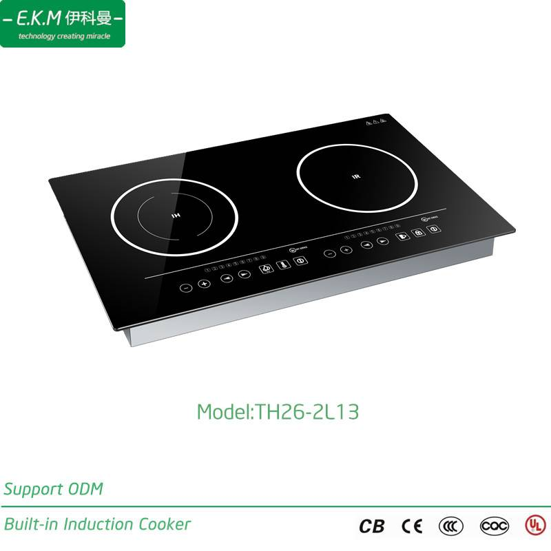 E. K. M Built-in Double Burner Induction Cooker, 2600W, Can Use 5 Years (TH26-2L13)