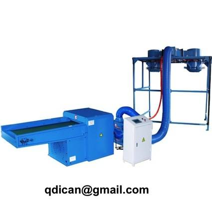 Fiber opening and filling machine