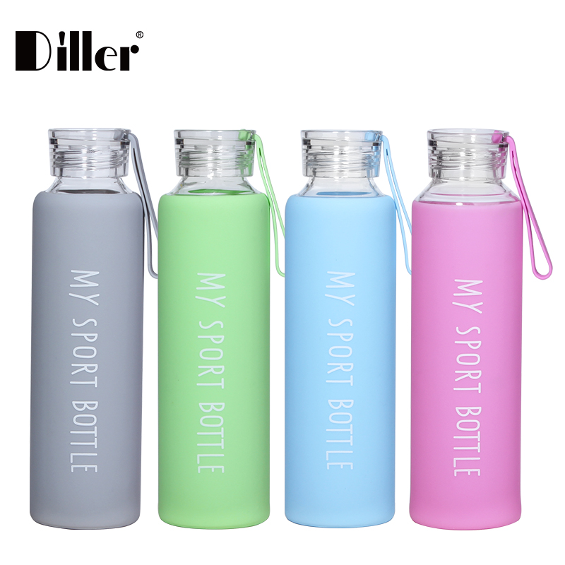 Hot selling promotional gift borosilicate glass water bottle