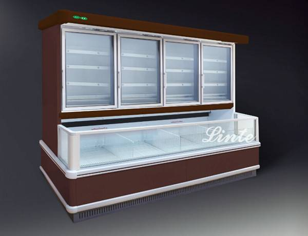 Supermarket double and single temperature twin freezer
