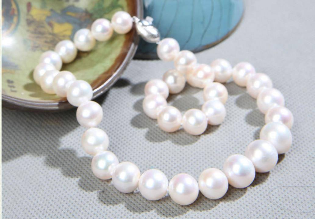 15mm round pearl necklace , natural pearl