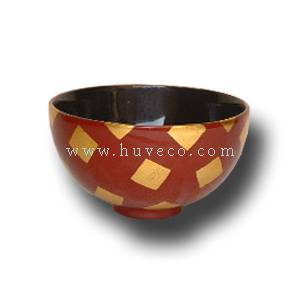 Lacquer Bowl with Decorative Pattern
