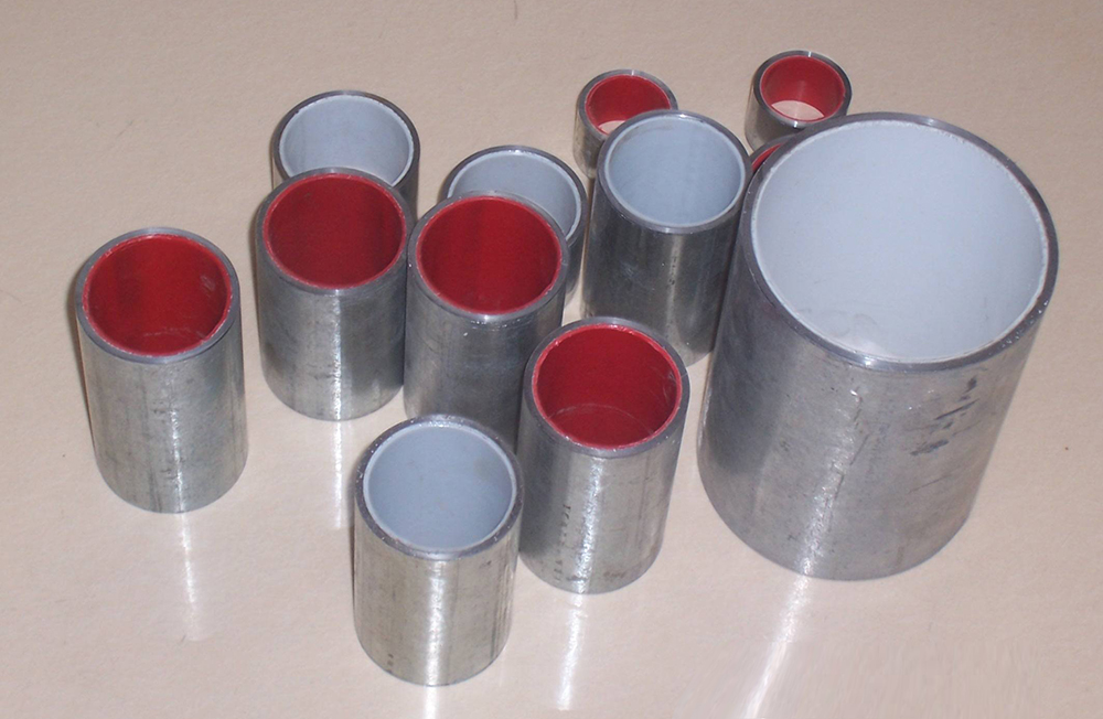 Steel-pastic composite pipe with Hot dipped galvanization
